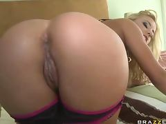 Blonde Babe Gets A Big Dick Buried Deep In Her Ass As She Has Anal