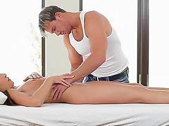 Erotic massage and hardcore penetration