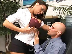 Rachel Starr office sex with cum on tits