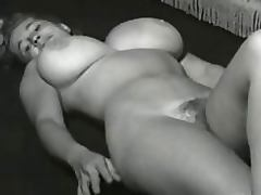 Vintage Porn Clip of a Hot Blonde With Huge Knockers and a Hairy Pussy
