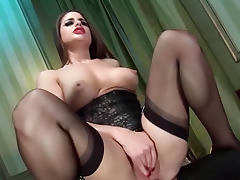 Kinky slut could not be more glamorous fucking
