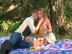 Gorgeous Blonde Samantha Saint Getting Fucked Outdoors