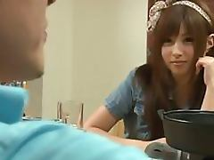 Naturally Busty Japanese Teen Gets Her Hairy Pussy Fucked Hard