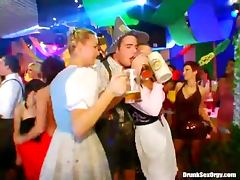 Costume party with drunk dancing