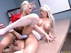 Lesbian Action With Brooke Haven and Holly Halston