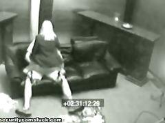 Voyeur Cam Catches A Horny Couple Fucking On A Sofa