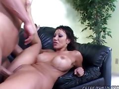 Ava Devine the lovely brunette gets fucked on a sofa