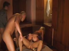 Beautiful Blonde gangbanged in Hotel Room