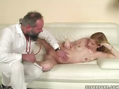 Gyno examination ending up with a real hot sex