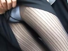 Slim MILF Teacher Fucked And Creampied On A Crowded Bus
