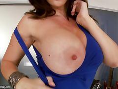 Stunning Brunette Pornstar Jayden Jaymes Playing with Her Feet