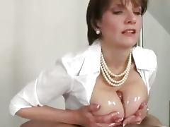 Domina does titfucking until cumming