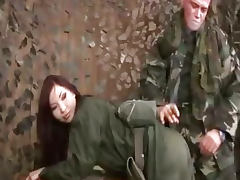Bdsm on female army recruit