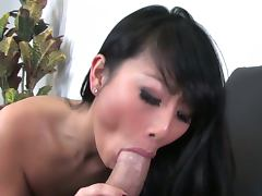 Cute evelyn lin loves to swallow