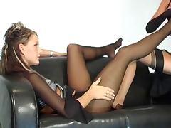 Lesbians love fetish nylon lingerie