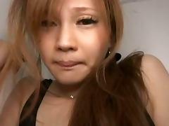 Asian Bombshell Ameri Ichinose in See Thru Lingerie Masturbating