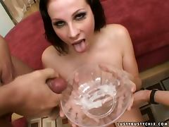 Gianna Michaels gets two hard cocks to suck and ride