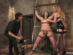 Chubby brunette Raina Verene gets punished hard in BDSM scene