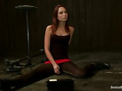 Amazing Amber Rayne gets tortured and toyed by hot babe
