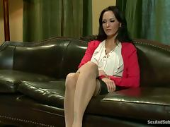 Brunette Ava Addams gets bonded and ass fucked