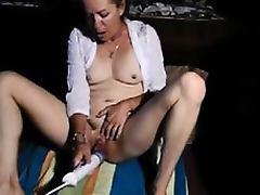 Granny Masturbates to Orgasm