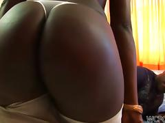 Fine big black Brazilian ass getting pounded