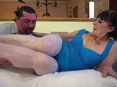 A filthy cock loving granny has found younger guy to fuck