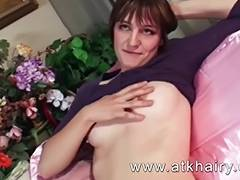 Hairy Legs videos. Hairy legs aunty take eggplant in wide open cunt