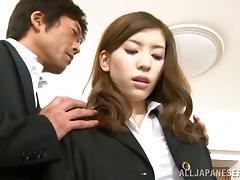 Yuria Ashina rides a cock passionately and gets facialed