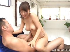 Lovely Shunka Ayami gets her tight pussy fucked on a sofa