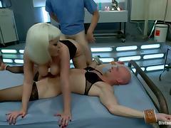 Kinky Cherry Torn Fucks Cock-Sucking Crossdresser's Butt with Strapon