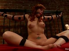Bondage and Domination for Redhead Brooklyn Lee in Lesbian Video