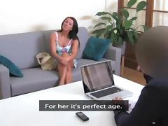Divine milf seduces her partner in the office