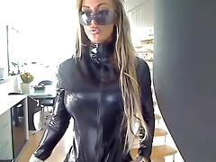 Catsuit videos. A lot of foreplays include costume wearing scenes same as sexy catsuits
