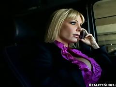 Hot Holly Sampson gets fucked and facialed by a builder