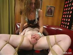 Kym Wilde Torturing a Tiny Cock and Balls Face Sitting a Tied Up Guy