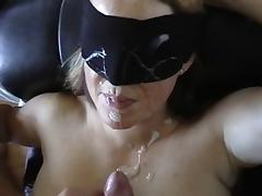 Blindfold facial hot wife