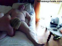 Voyeuring Mom sucking cock neighbor