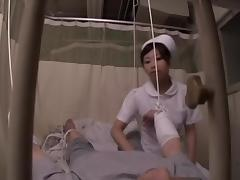 Asian nurse rides her patient's dick in spy cam sex video