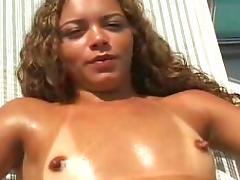 Brazilian beauties with a nice ass get a massage