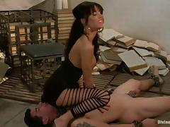 Pegging and Face Sitting Action by Foot Fetish Gia Dimarco in Femdom