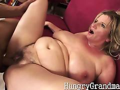 Tit fucked horny grandma