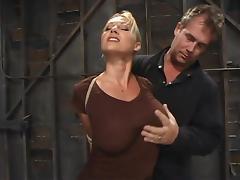 Bondage video with busty Devon Lee getting tortured