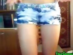 Hot Girl Fucking Her Ass With Dildo