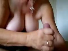 Granny Sucking Cock