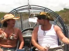 Busty milf is enjoying that huge dick on be passed on motor boat
