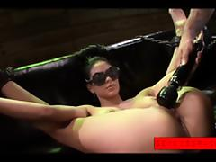 Jasmine Caro is blindfolded and disgraced over and over