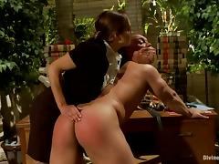 Francesca Le torments John Magnum before jumping on his cock