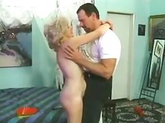 Mature woman with curly hair gets fucked rough