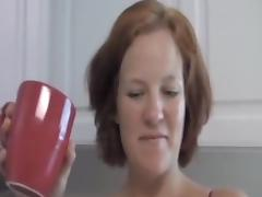 Great kitchen sex with older woman